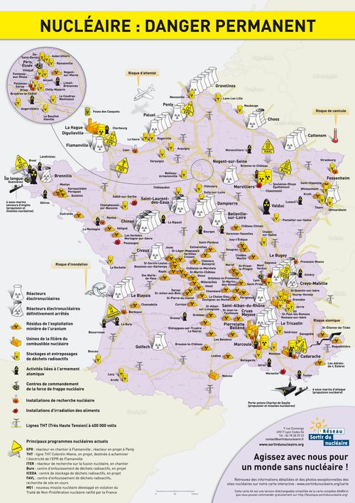 French nuclear map