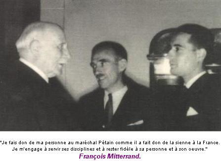 Mitterrand Petain
