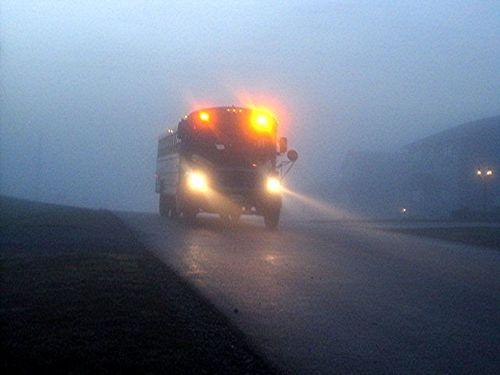 School-bus-in-the-dark