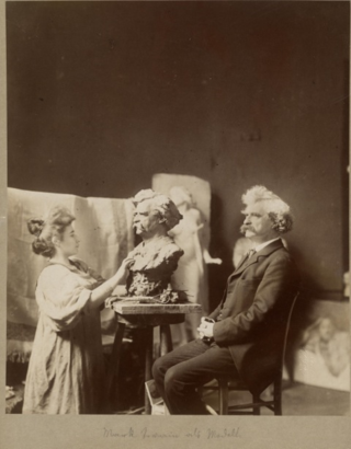 Mark Twain in Vienna mark twain photo--being sculpted by one of the few female Secessionists