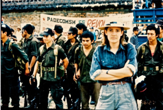 Oconnor with the salvadoran guerrillas c. 1991author photo