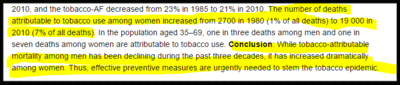 Tobacco trends