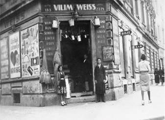 Jewish owned business in Zagreb belonging to Vilim Weiss
